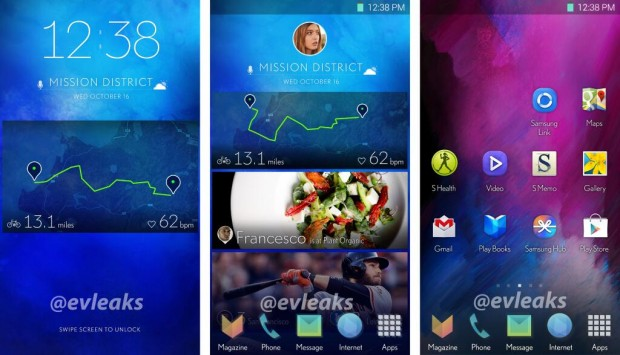 A possible new Galaxy S5 software look from @evleaks.