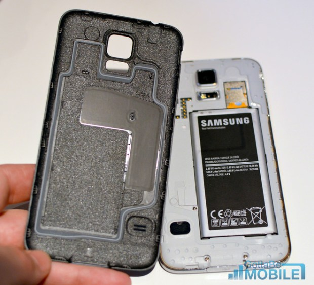 This isn't a waterproof Galaxy S5, but it is able to withstand a drop into water.