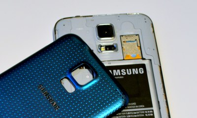 The Galaxy S5 features a Micro SD card slot.