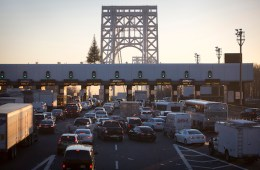 The George Washington Bridge toll booths are pictured in Fort Lee, New Jersey