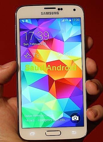 A look at a Galaxy S5 display and lock screen.