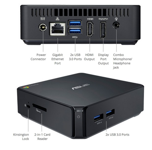 asus chromebox ports