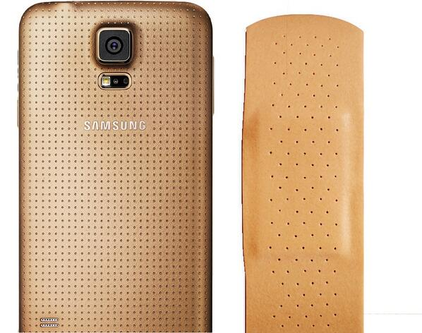 samsung galaxy s5 compared to a bandaid