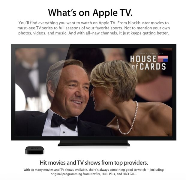 house of cards on apple tv