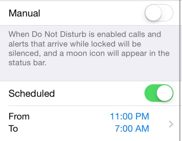 Turn on Do Not Disturb Manually or Schedule it for specific times.