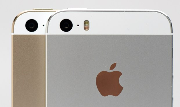 The iPhone 5s camera includes a dual-LED flash.