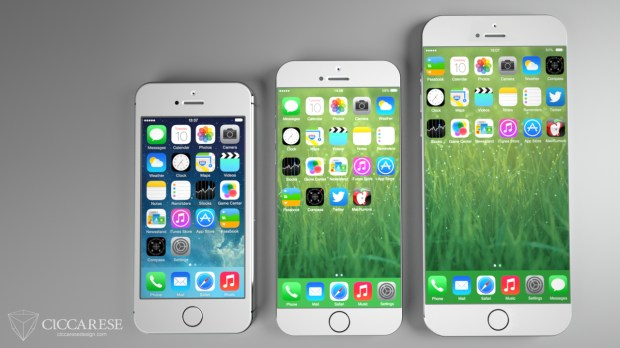 iPhone 6 concepts showing what larger displays could look like.