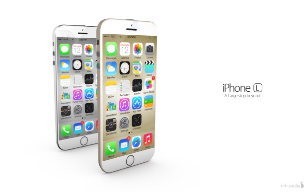 The iPhone 6 rumors suggest a 4.7-inch display on one model, which is the size shown here.