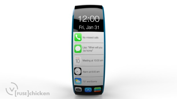 This iWatch concept includes notifications in addition to integration with the rumored IOS 8 Healthbook app.