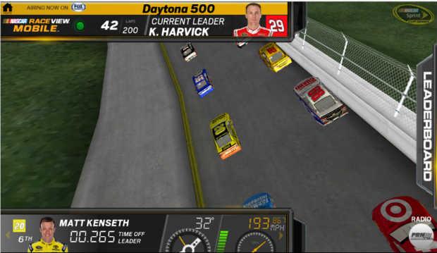nascar raceview mobile 3d virtual race