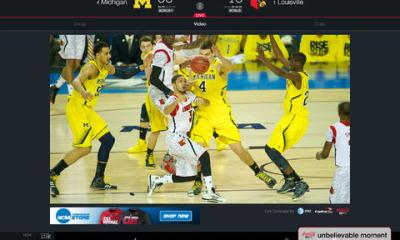 Apps offering access to a March Madness live stream shot to the top of the free apps chart.