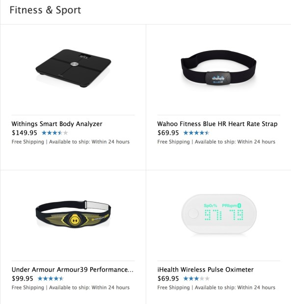 Apple sells many accessories, which we could see work with Healthbook in iOS 8.