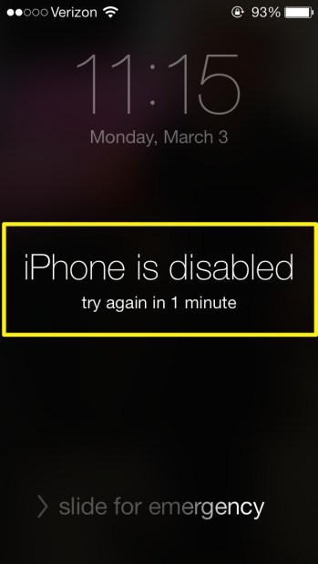 Disabled iPhone