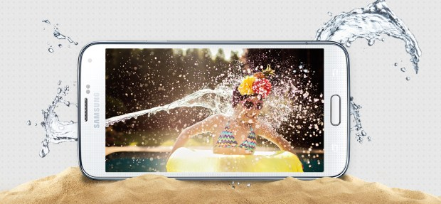 The Samsung Galaxy S5 is water-resistant, which could influence the features we see on other phones.