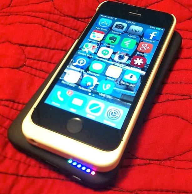 PowerBot PB1140-i5 Qi Enabled Wireless Charging Case for iPhone 5s and iPhone 5