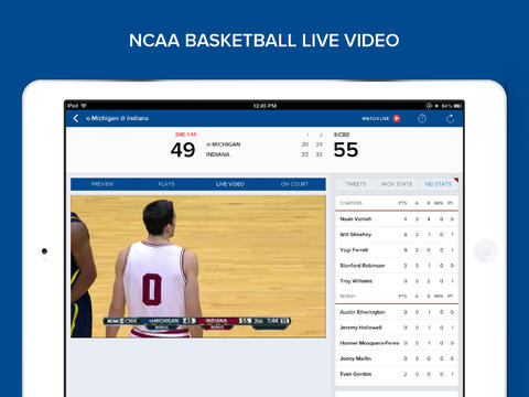 CBS offers a free 2014 March Madness live stream of select games.