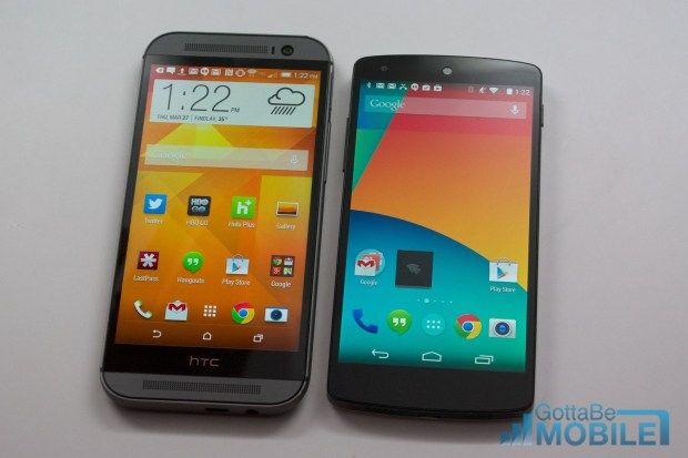 New HTC One M8 vs - Nexus 5-9-X3