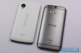 New HTC One M8 vs - Nexus 5-X3