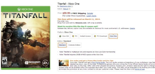 Titanfall Amazon