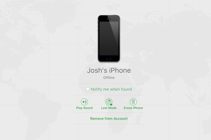 find my iphone off mac