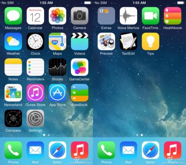 iOS 8 screenshots