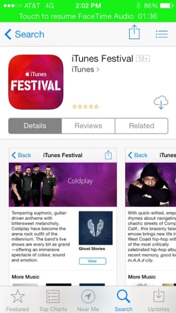 Apple updated its iTunes Festival app, an app that was reportedly tied to the iOS 7.1 release.