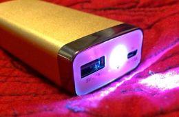 ravpower luster 6000 mah external battery plus flashlight