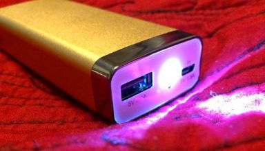 ravpower luster 6000 mah external battery plus flashlight