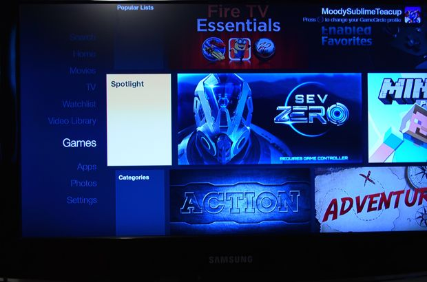 fire tv apps and games