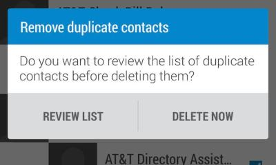 remove duplicate contacts after transfer from htc one m8