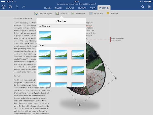 Microsoft Office for the iPad: Review