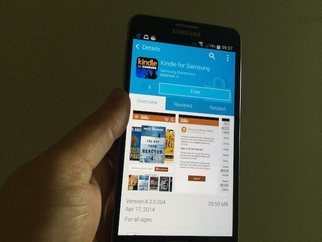 Samsung and Amazon Create Partnership for Kindle Books