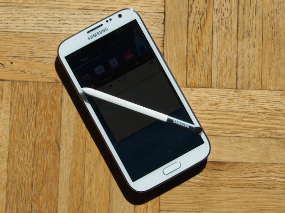 The Galaxy Note 2 comes with a stylus that can take advantage of unique apps.