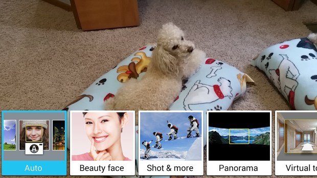 Choose the Samsung Galaxy S5 camera mode to fit your photo.