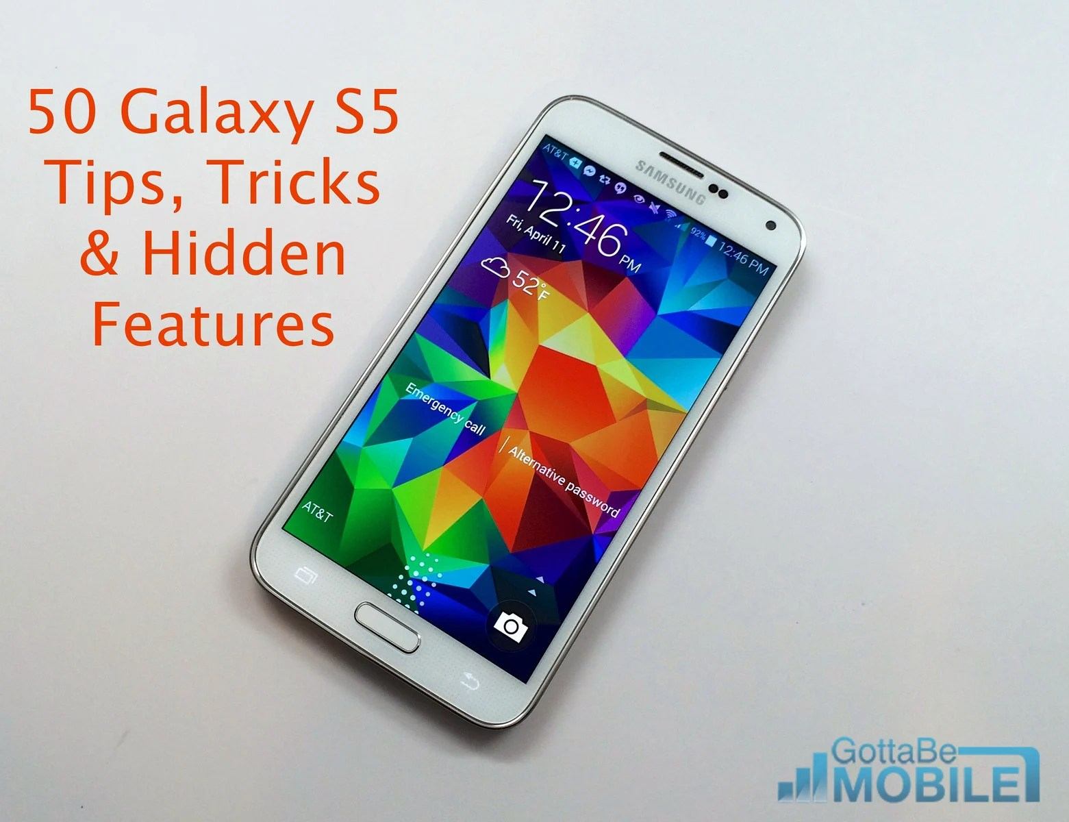 50 Galaxy S5 Tips, Tricks and Hidden Features