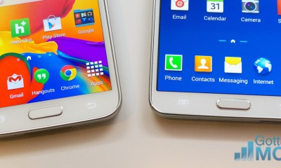 The Galaxy S5 buttons offer faster access to Google Now and multitasking.