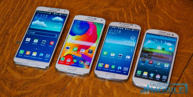 Samsung Galaxy S5 vs Galaxy S4 vs Galaxy S3 -  Display