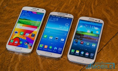 The Galaxy S5 display is brighter and bigger than the Galaxy S3.