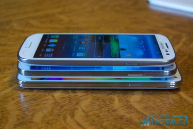 Samsung Galaxy S5 vs Galaxy S4 vs Galaxy S3 -  Screens