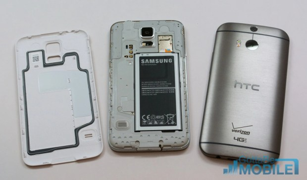 The Galaxy S5 is water-resistant.