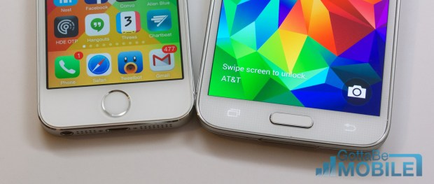 Both phones offer a fingerprint reader, but the experience is vastly different.