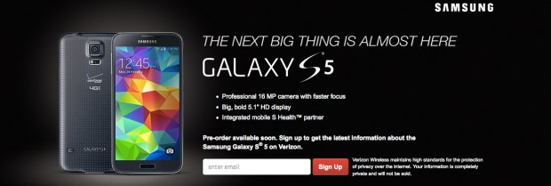 The Verizon Galaxy S5 release date remains unknown.