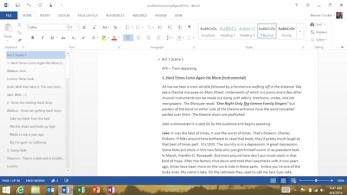The Ribbon Tab in Word on Surface 2