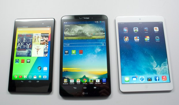 The LG G Pad 8.3 display is good, but not as bright as the competition.