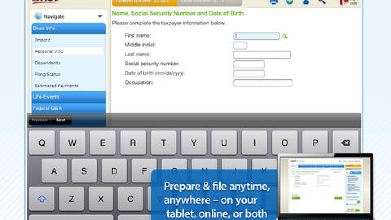 Tax Apps for iPhone & iPad: 1040EZ Options, TurboTax Free Apps