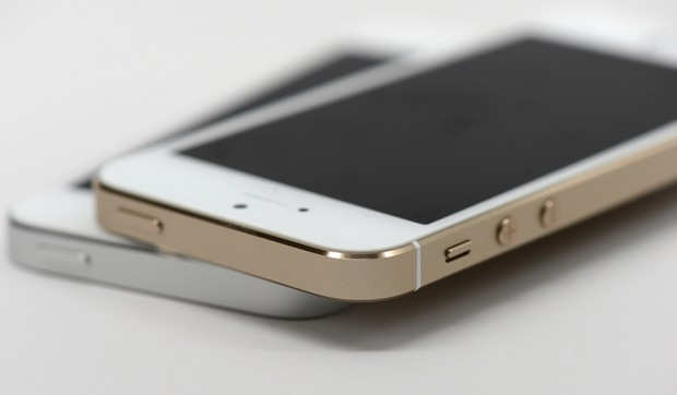 The iPhone 5s design offers metal and glass, not plastic.