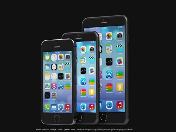 iPhone 5s vs. iPhone 6 concept vs. iPhone 6 concept.