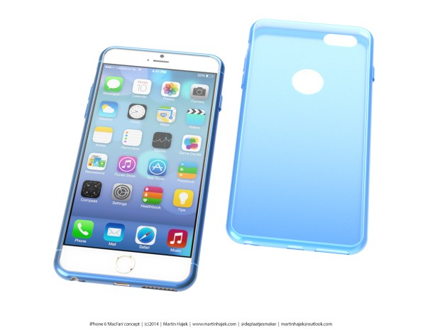 This new concept incorporates a rumored iPhone 6 case.