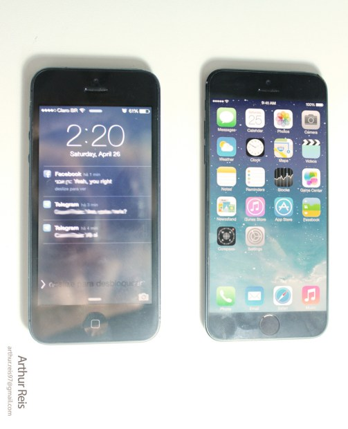 iPhone 5 vs. iPhone 6 concept.