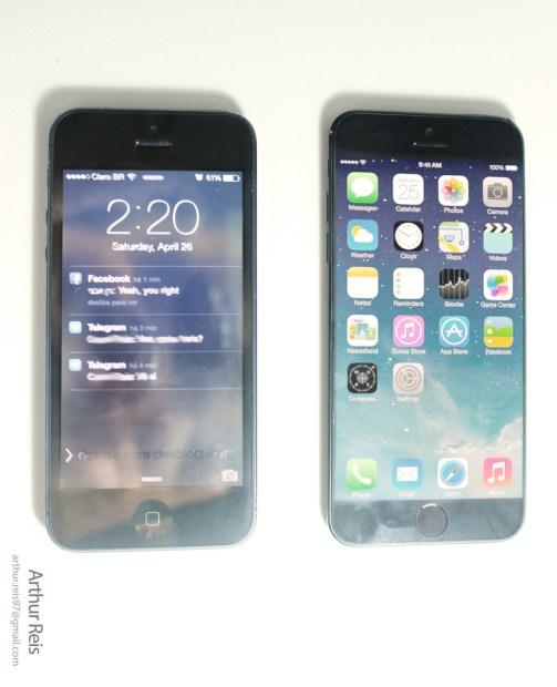 iPhone 5 vs. iPhone 6 concept.